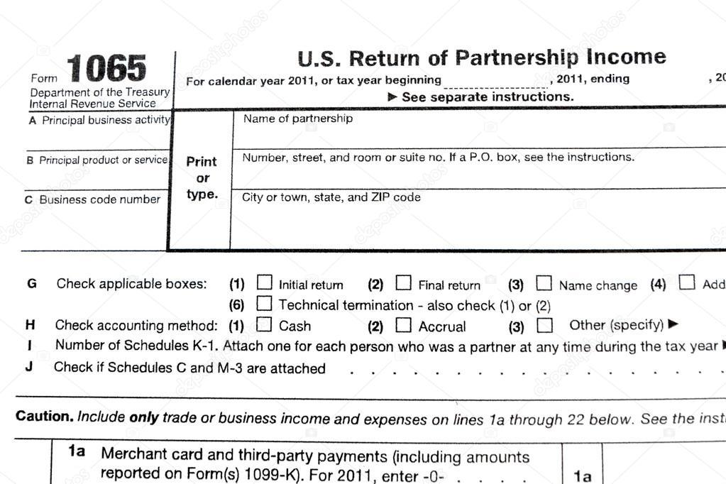 Tax Forms 1065 Stock Photo Bunwit 33129675