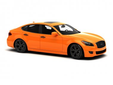 Sport orange luxury car