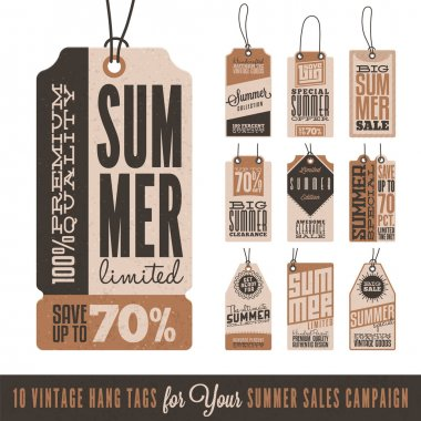 Summer Sales Hang Tags
