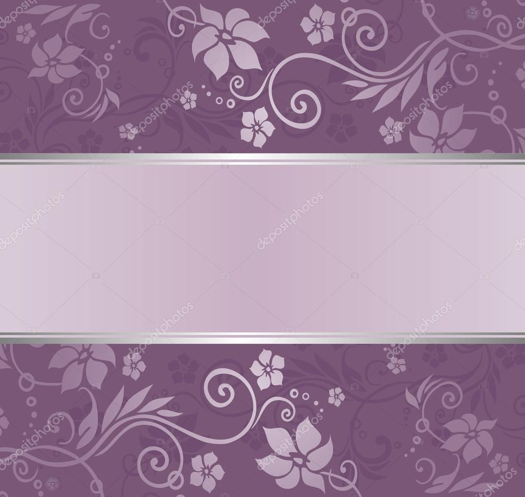Violett Und Silber Luxus Vintage Tapete Mit Exemplar Stockvektor