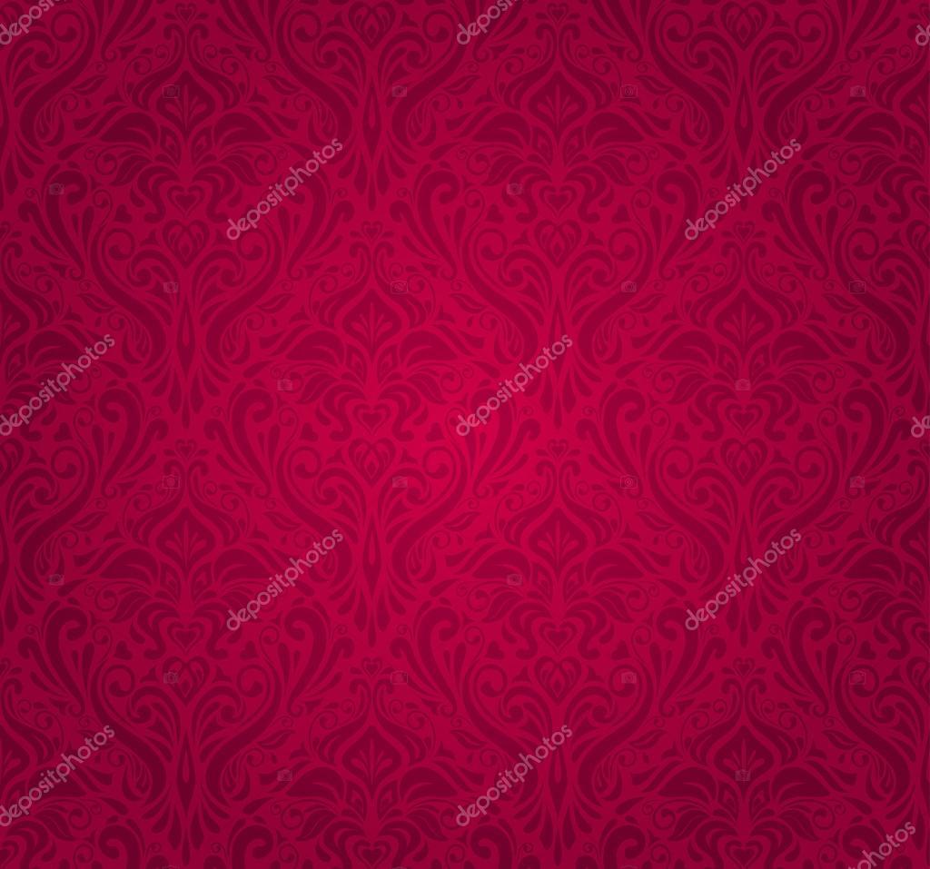 Papier Peint Vintage Rouge Image Vectorielle Erinvilar C 23884883