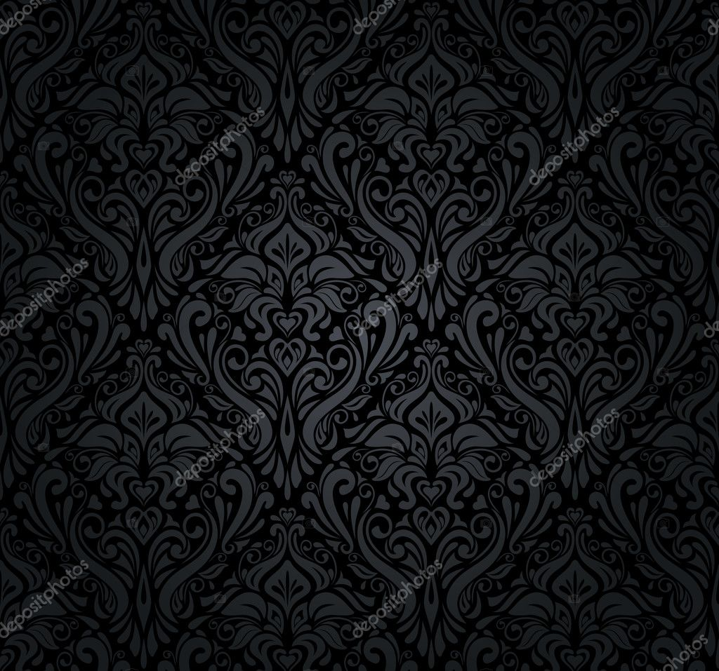 black and silver vintage wallpaper