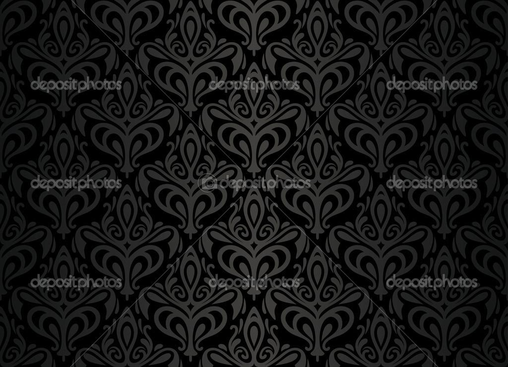 Populares projeto de plano de fundo de papel de parede vintage preto  PG99