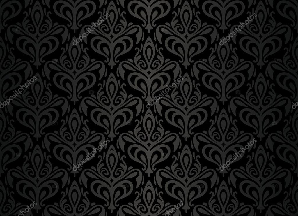 Projeto de plano de fundo de papel de parede vintage preto for Papel de pared negro