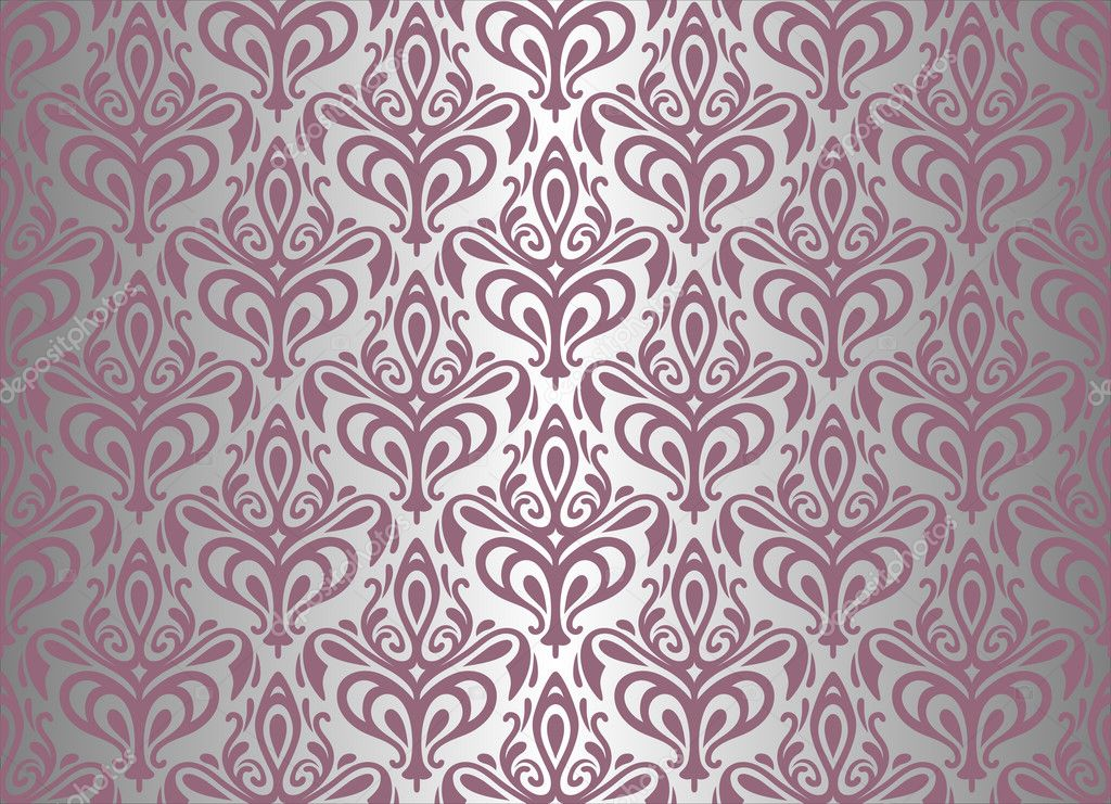 violet silver vintage wallpaper stock vector. Black Bedroom Furniture Sets. Home Design Ideas