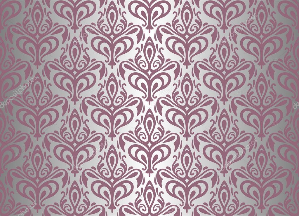 Violet silver vintage wallpaper stock vector for Vintage tapete