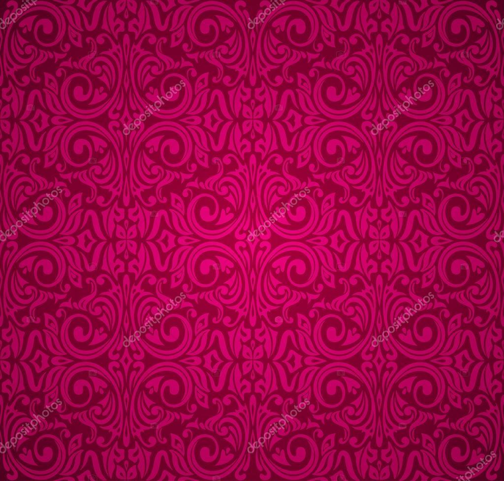 Arriere Plan De Papier Peint Vintage Rouge Image Vectorielle
