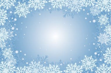 blue christmas card background