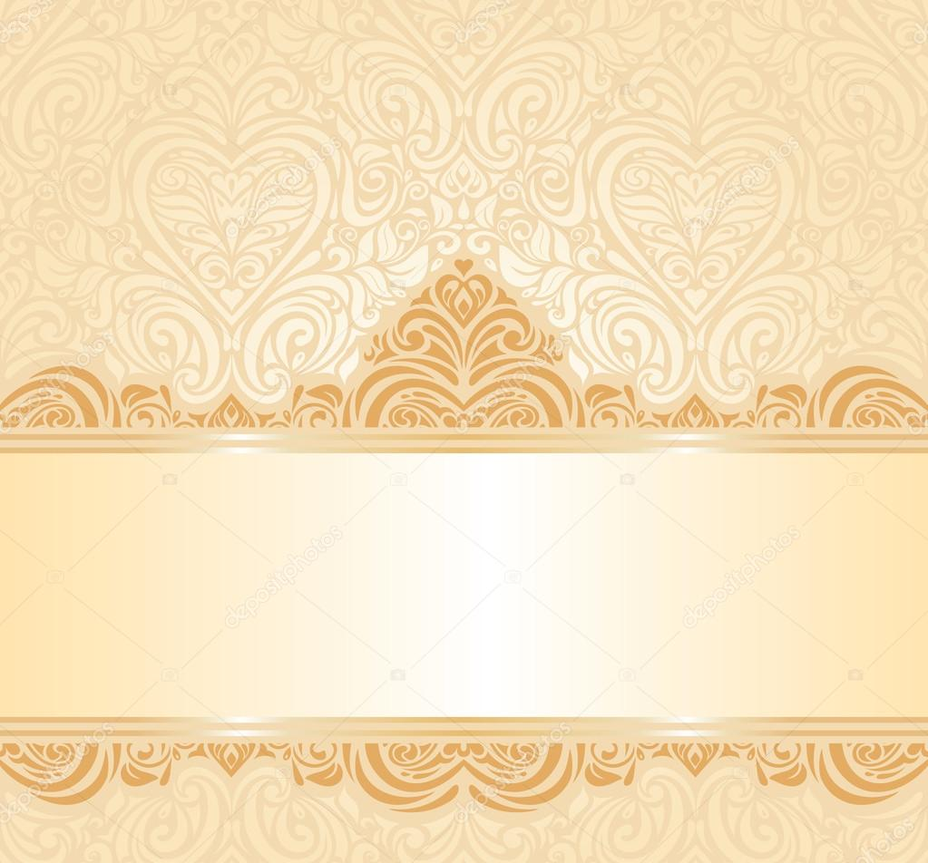 gentle peach wedding invitation floral background stock vector 45851007 - Wedding Invitation Background