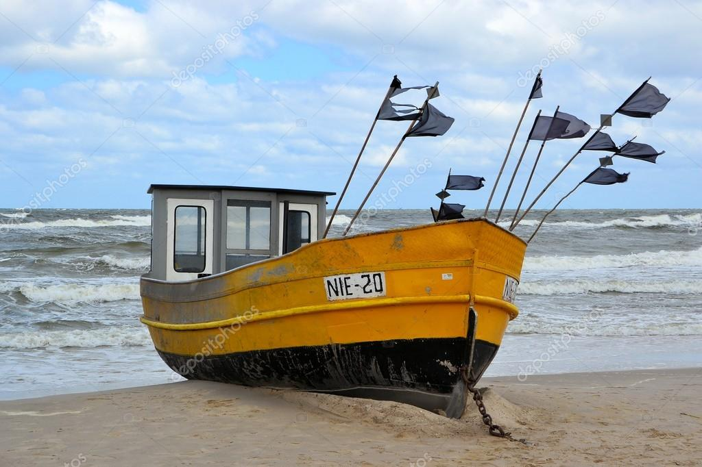 A fishing boat on the Baltic coast