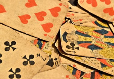 historic old playing cards