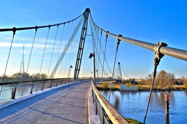 a bridge for pedestrians over the Elbe