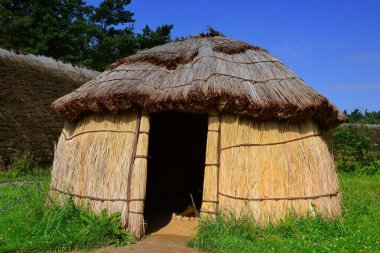 Reconstruction of a Stone Age village