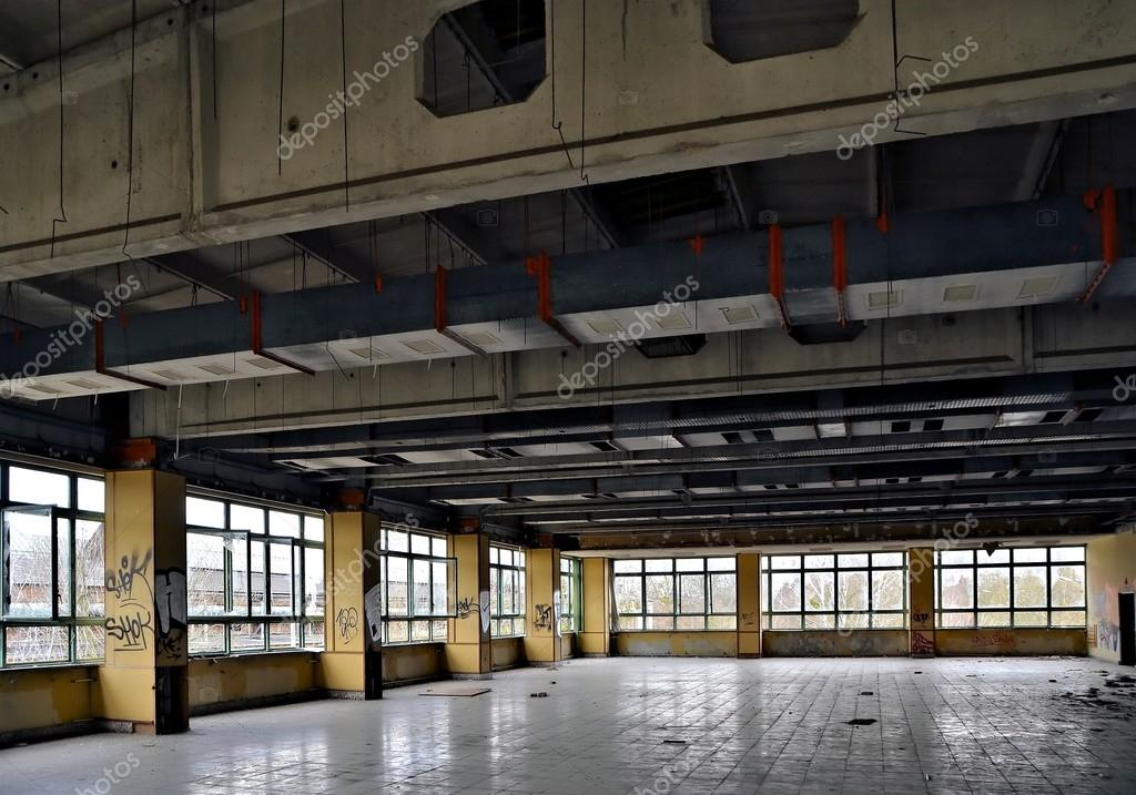 dining room of a disused factory
