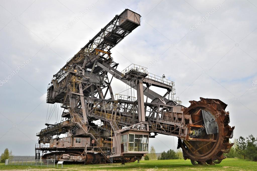 Coal digger is in a disused mine — Stock Photo © heiko119
