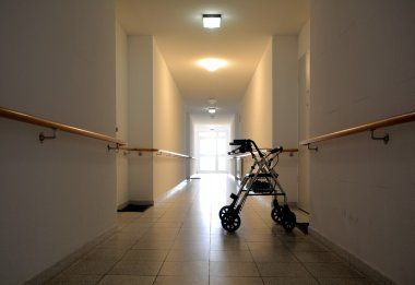 A corridor in a nursing home
