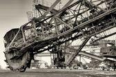 Fényképek kotró-a használaton kívüli külszíni ferropolis