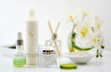 Beauty Products On White Background