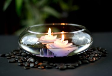 Floating Candles In Glass Bowl
