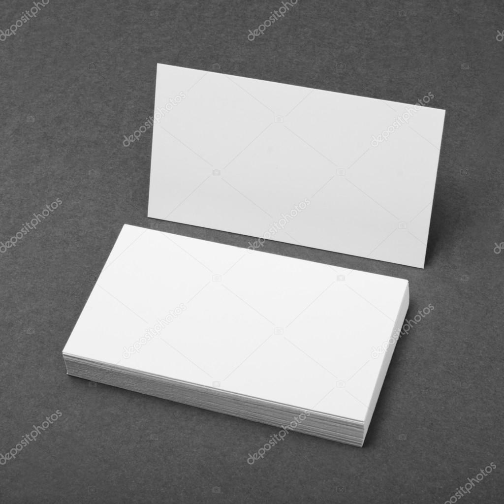 Blank business cards on gray background stock photo fontgraf blank business cards on gray background stock photo reheart Gallery