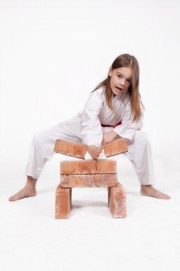 Karate girl breaks bricks 2
