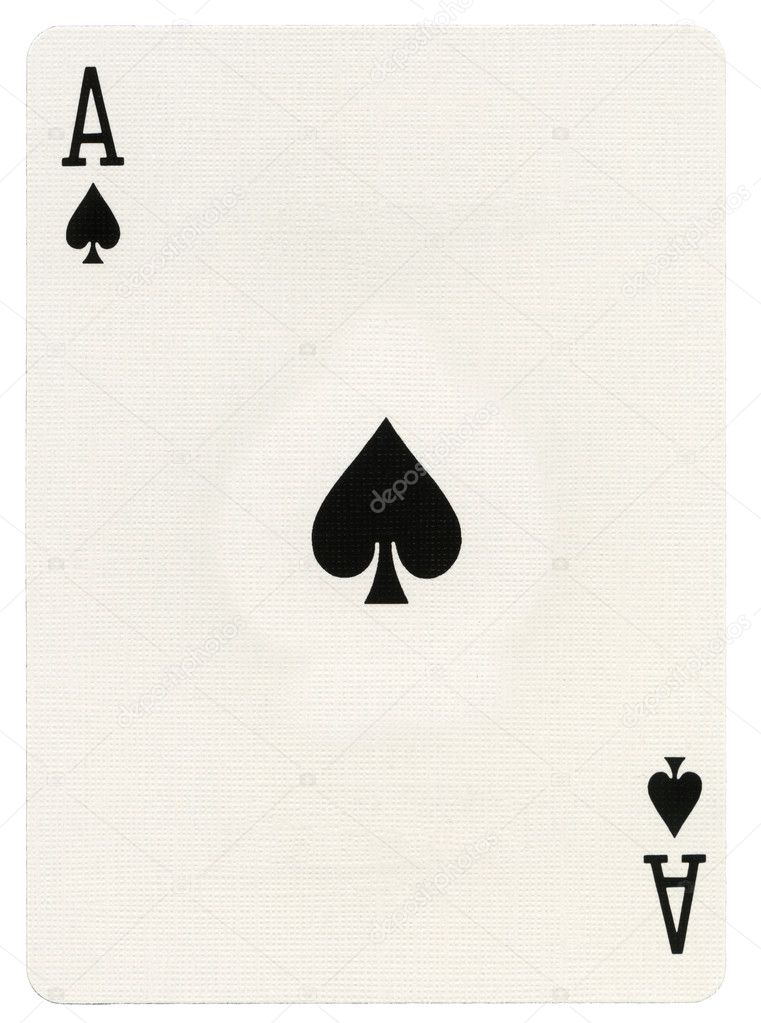 Playing Card Ace Of Spades Stock Photo Eldadcarin 22388649