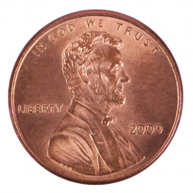 Isolated Penny - Heads Frontal