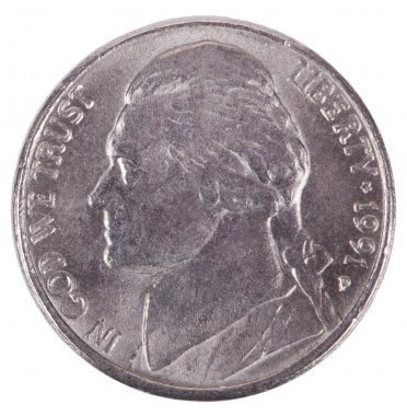 Isolated Nickel - Heads Frontal