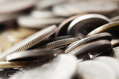 Coins Macro Background