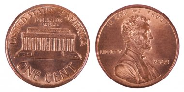 Isolated Penny - Both Sides Frontal
