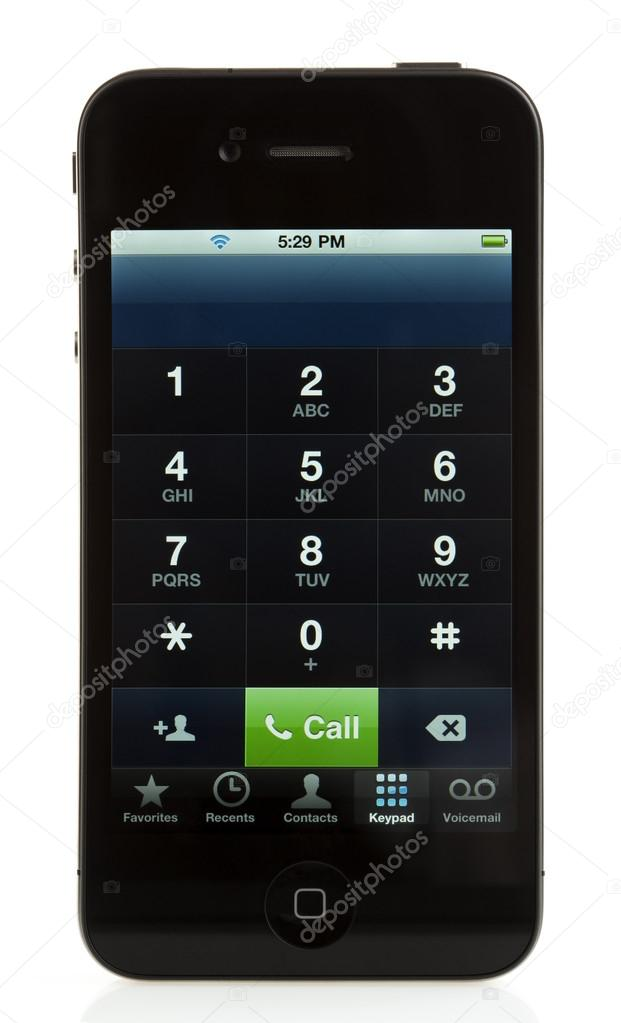 Isolated iPhone 4 - Phone Keypad
