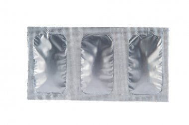 Vaginal suppository tablet in aluminum strip pack