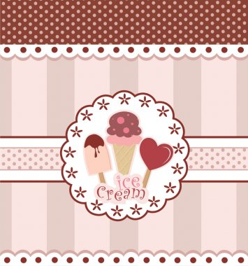 Sweet Card Design With Ice Cream