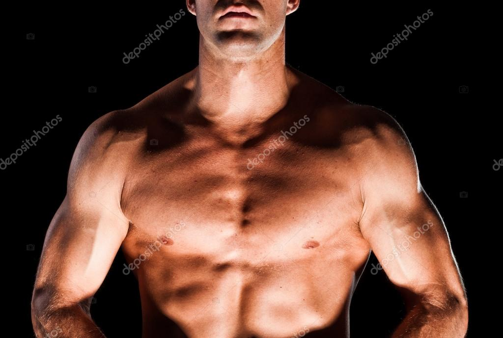 Muscular Mans Chest Stock Photo Aetb 23145322