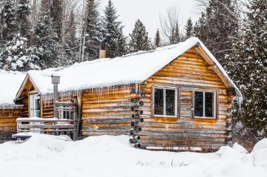 Log Wood Chalet in Quebec, Canada