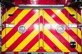 červené hasičské auto detaily zadní vzorku