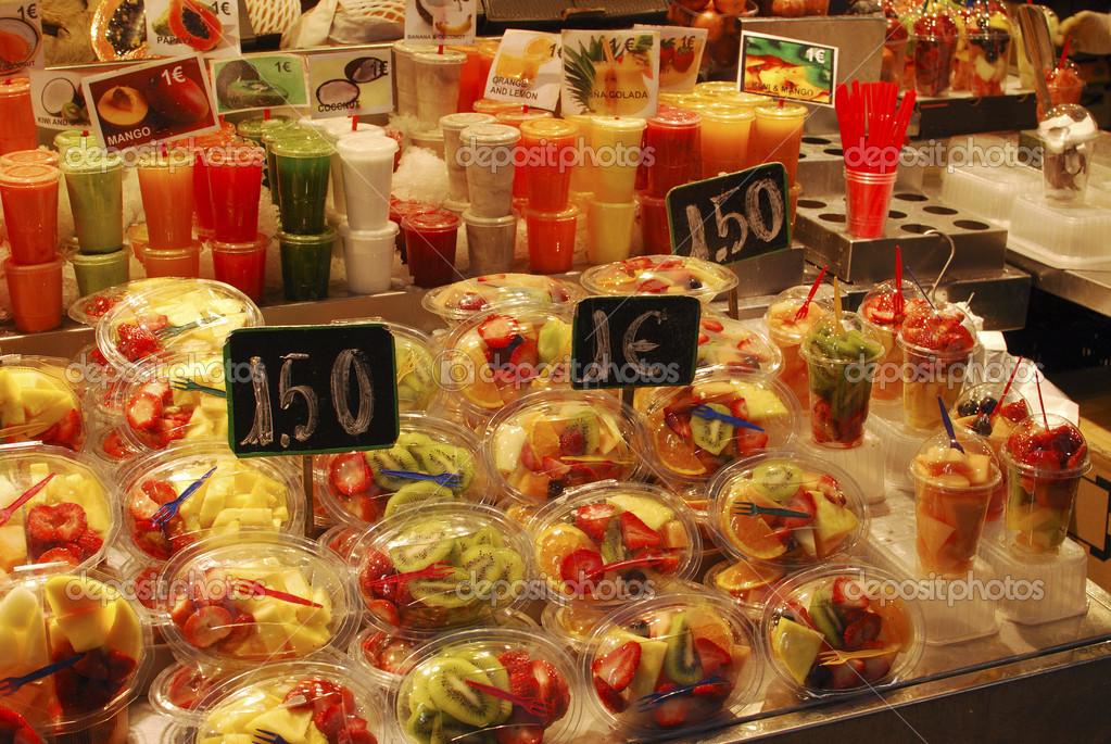 Frutas venda na banca do mercado barcelona fotografia - Mercados de segunda mano barcelona ...