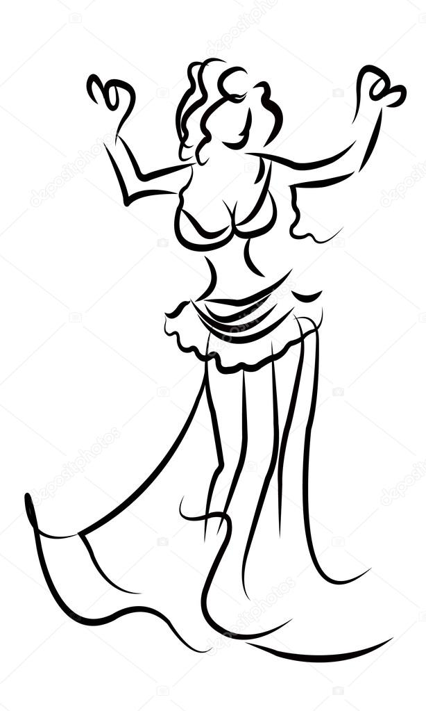 Imágenes: danza arabe para colorear | bosquejo de bailarina del ...