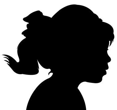A child head silhouette
