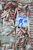 Photo Fresh fish on display at market on sale