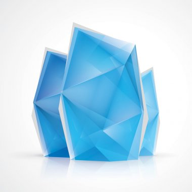 Crystal diamond style infographics