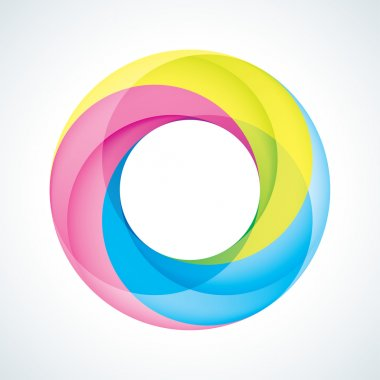 Abstract Infinite loop logo template. Corporate icon. 3 Pieces Shape