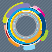 Šablona návrhu s abstraktní infografika