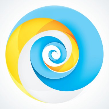 Abstract Infinite Loop Swirl Template. 3 Pieces Shape. EPS10