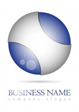 Business logo blue sphere design