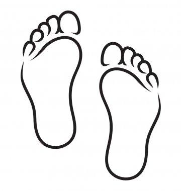 Feet symbol