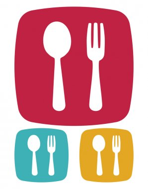 Fork and spoon icon - restaurant sign
