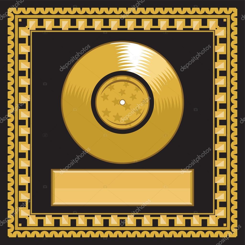 disque d or vierge de lp dans le cadre image vectorielle 27428529