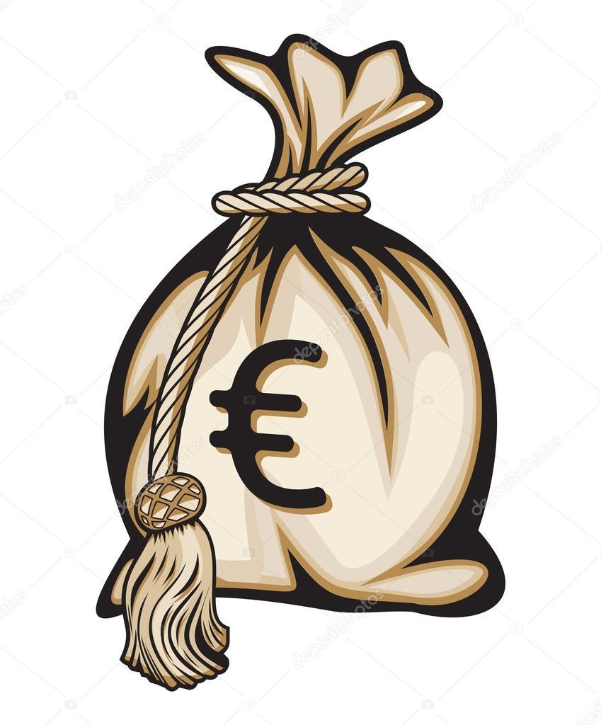 Euro Symbol Geldsack