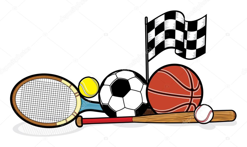 Sporting equipment stock vector branchecarica 31881761 - Sport loisir equipement ...